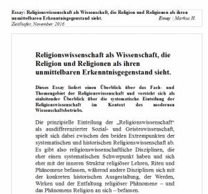 Religionswissenschaft als Wissenschaft   Fächerkanon