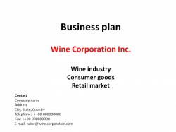 Businessplan Wein Industrie