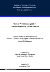 Global Protein Analyses of Canine Mammary Gland Tumors