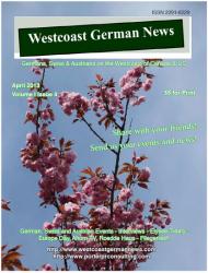 Westcoast German News Magazine - April 2013 Edition