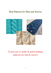 Knit Patterns for Hats and Scarves